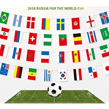 caea38298 Cheap4uk 2018 Football World Cup Bunting, FIFA World Cup Top 32 Nations  Small Flags Fabric
