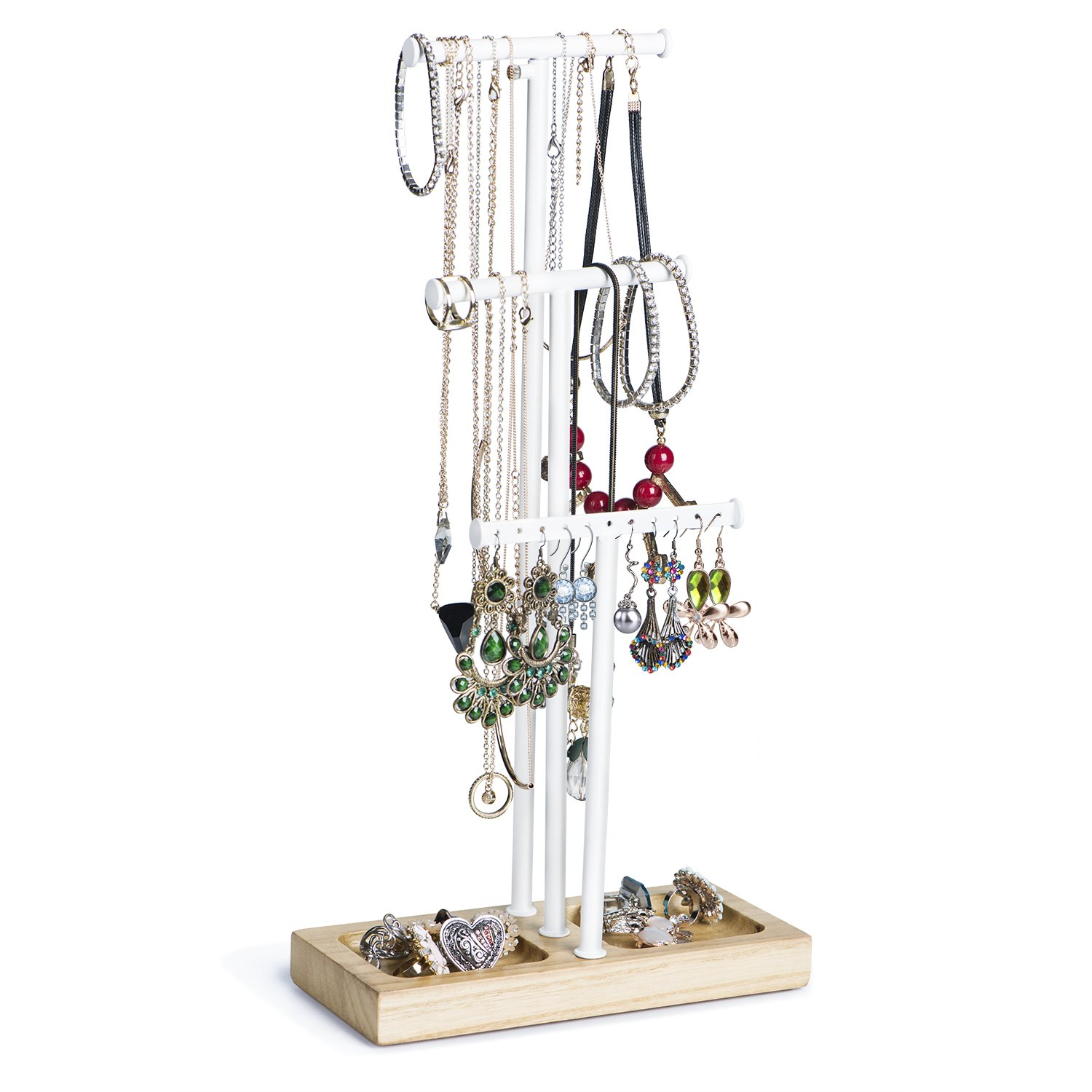 Hanging Jewellery Holder Tree Jewelry Organiser Display Stand For