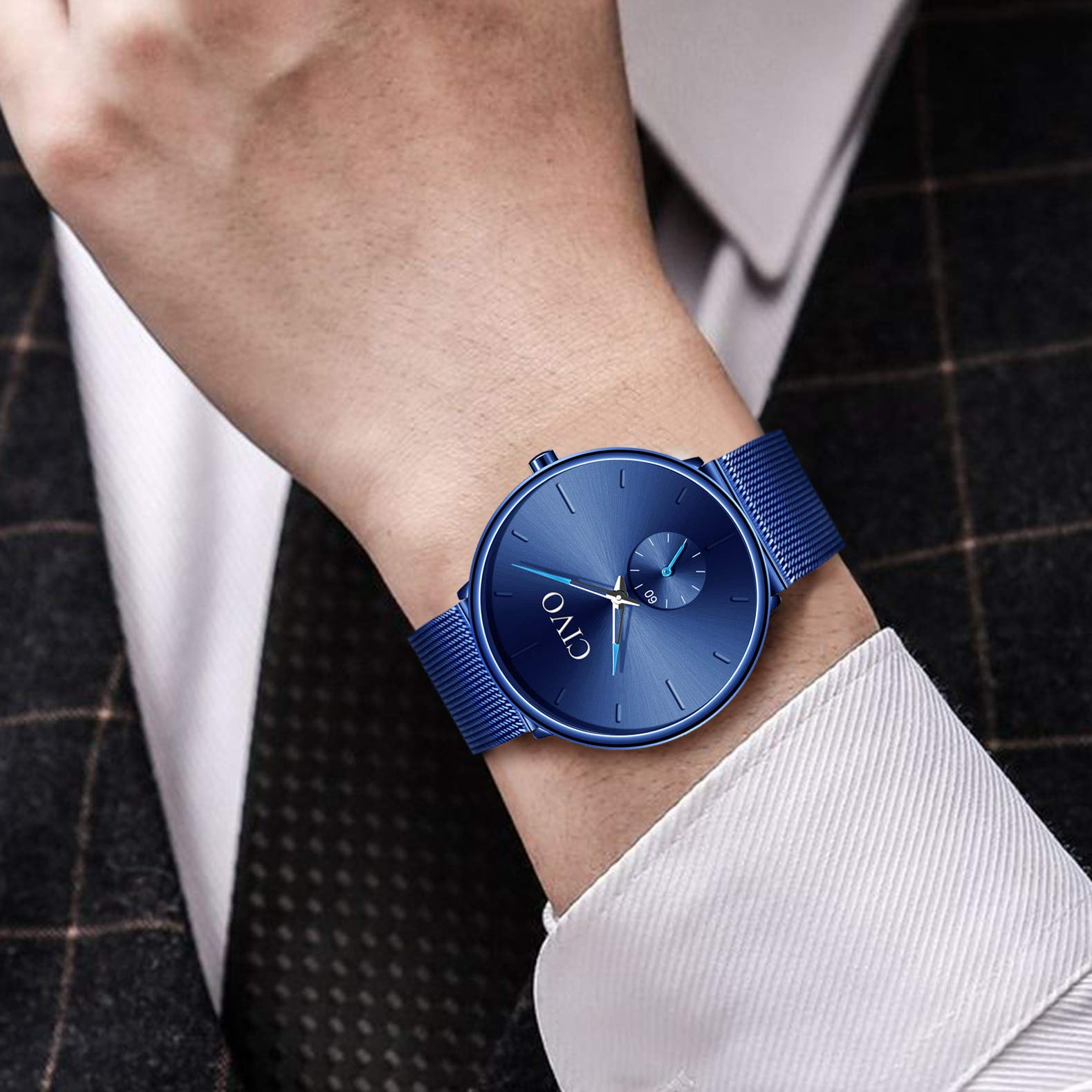 24378d08dd8a Inicio   Baratos   CIVO Relojes de Hombre Lujo Impermeable Ultra Fino Reloj  de Acero Inoxidable Minimalista Moda Deportivo ...