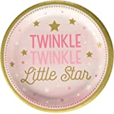 Creative Converting Twinkle Little Star Dessert Plates 8-Pieces, 7-Inch Size, Multicolour