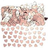 Amscan 9903474 – konfetti hjärtan, roséguld, folie, 14 g, spridd dekoration, bordsdekoration, alla hjärtans dag, bröllop, föd