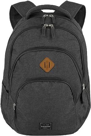 travelite Rucksack Handgepäck mit Laptop Fach 15,6 Zoll, Gepäck Serie BASICS Daypack Melange: Modischer Rucksack in Melange Optik, 45 cm, 22 Liter