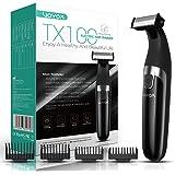 VOYOR Tondeuse à barbe pour hommes Tondeuse électrique pour tout le corps et rasoir Tondeuse à cheveux sans fil Rasoirs profe