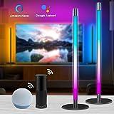 Alexa LED Lightbars(2er Pack), Dimmbar 16 Mio. RGB Farben Tischlampe / nachttischlamp / Stehlampe, LED TV Hintergrundbeleucht