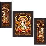 Wens 'Ganesha Indian Deity' Wall Art (MDF, 30 cm x 34 cm x 1.5 cm, WSP-4308)