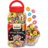 Swad Breakfast Cereal, Multigrain Fruit Rings (Made with Oats, Rice, Corn, High Fibre Frooty Loops Cereal for Kids) Jar, 280