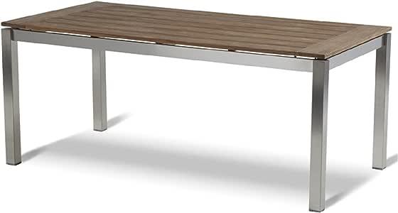 Hartman Imperial Table 180 x 90 cm Inox/Bois de Teck Look ...