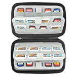 Sisma Etui de rangement pour 72 cartouches de jeux Nintendo Switch 3DS 2DS Ps Vita et Cartes mémoire SD microSD, noir...