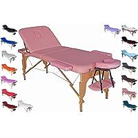 POLIRONESHOP VENERE Lit portable et pliable professionnel pour massages, soins esthétiques, physiothérapie, épilation…