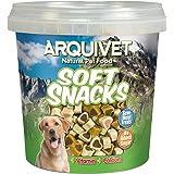 Arquivet Soft Snacks Naturales para Perro en Forma de corazón Mix de sabores - Pollo, Caza, Cordero, salmón y arroz - Chuches