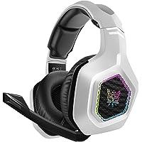 DIZA100 Gaming Headset für PS5, 3.5mm Surround Sound Kabelgebundenes Gaming Kopfhörer mit RGB-Licht und verstellbarem…