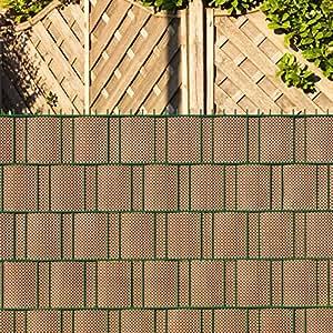 videx polyrattan sichtschutzstreifen f r doppelstabmatten 19 x 200 cm mocca anthrazit amazon. Black Bedroom Furniture Sets. Home Design Ideas