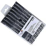 Brustro Professional Pigment Based Fineliner - Set of 8 (Black)