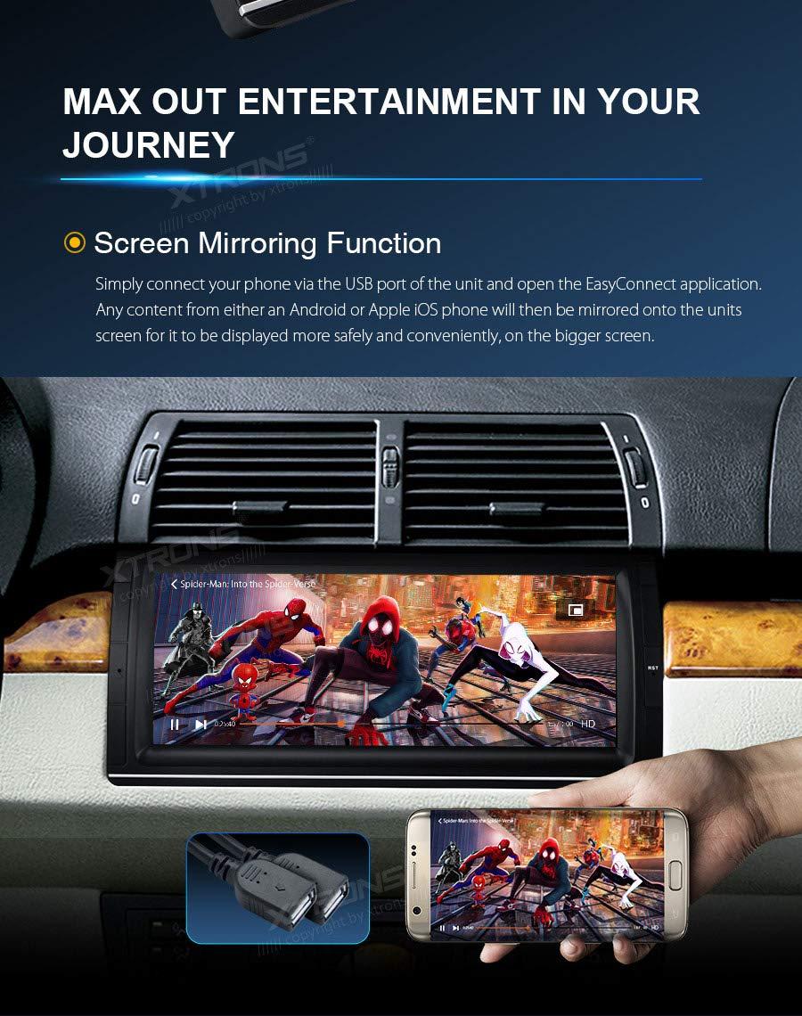 XTRONS-1025-Android-Autoradio-mit-Touchscreen-Android-80-Octa-Core-Auto-Autostereo-untersttzt-3G-4G-Bluetooth-4GB-RAM-32GB-ROM-DAB-OBD2-TPMS-Lenkradfernbedienung-FR-BMW-E53