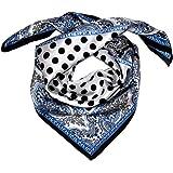 Lorenzo Cana, 89055, sciarpa di lusso sciarpa in seta con stampa elaborata, foulard 100% seta, 70x 70cm, colori armoniosi,
