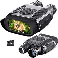 Jumelle Vision Nocturne pour Adultes, avec carte TF 32GB, zoom numérique infrarouge HD 7x, portée caméra 400M, pour…