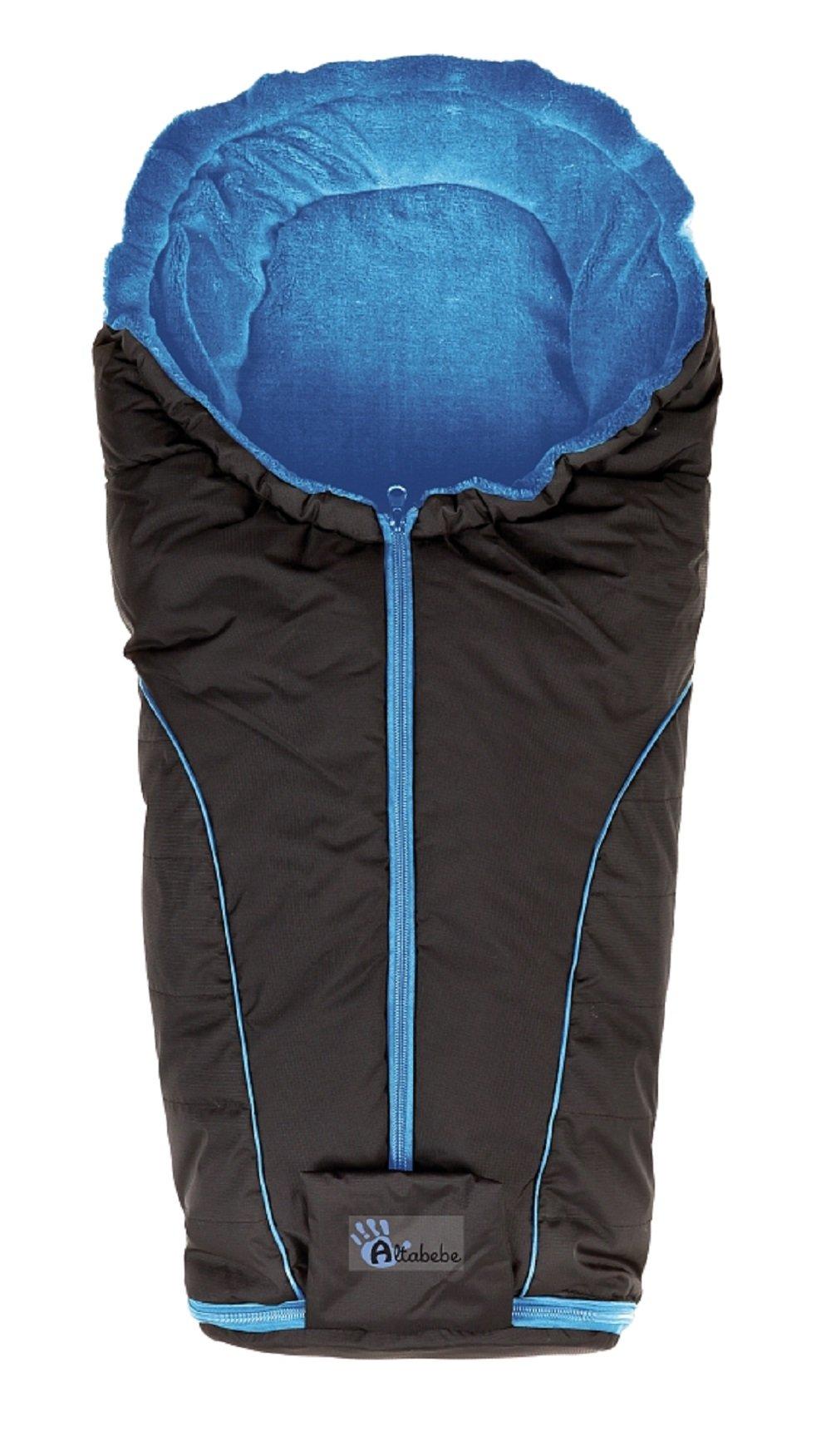 Altabebe, Sacco termico invernale per seggiolino da auto gruppo 0+, Nero (schwarz-blau)