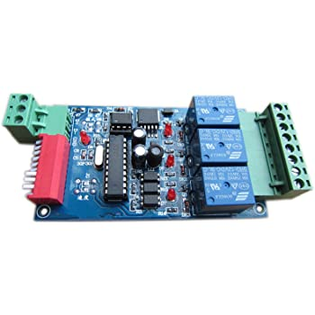 3 Channel 5A DMX512 Controlled Relay Switch Kit DIY Converter DMX ...