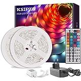 Ksipze Tiras LED 10m, Luces LED RGB con Control Remoto y Fuente de Alimentación de 12V, 20 Colores y 8 Modos de Escena para l