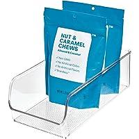 iDesign boîte de rangement, bac plastique moyen pour le placard ou le frigo, bac alimentaire pratique sans couvercle…