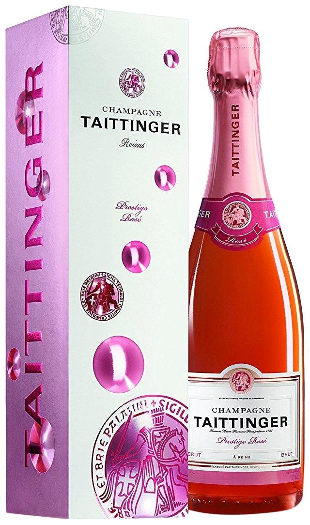 Taittinger Brut Prestige Rosé Non Vintage Champagne in Gift Box, 75 cl
