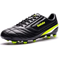 Saekeke Football Boots Kids Youths FG Boys Girls Soccer Cleats Shoes Training Shoes