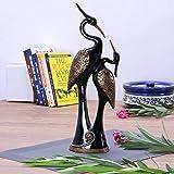 nantan Pair of Kissing Duck Showpiece, Idols, Figurine for Home, Office, Decor (Black, Large)