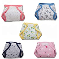 Baybee Reusable Fabric Diapers/Washable Cloth Diapers with Inserts- Hook and Loop Fasteners Adjustable Cloth Diapers for…
