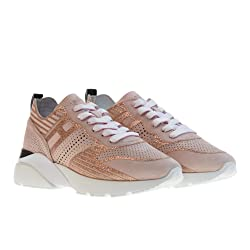 HOGAN Zapatos Mujer Zapatillas Bajas HXW3850BM40FFY0ZB8 Active One H385 Talla 37 Rosa