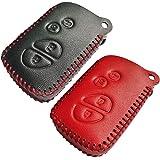 Coolbestda 2Pcs Leather Smart Car Key fob Case Skin Remote Accessories Keyless Entry Jacket Protector for Lexus RX350 ES350 I