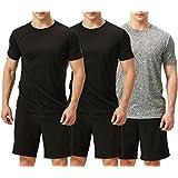 TEXFIT Men's 3 Pack Active Sport Quick Dry T-Shirts