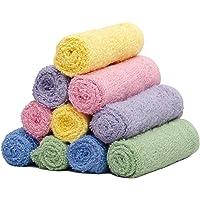 S Kumars Cotton Face Towel 300 GSM (Set of 10, Multicolour)