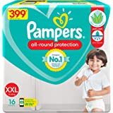Pampers All round Protection Pants, Double Extra Large size baby diapers (XXL) 16 Count, Anti Rash diapers, Lotion with Aloe