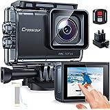 Action Cam Touchscreen, Crosstour CT9700 4K/50FPS Unterwasserkamera Helmkamera (WiFi 20MP Fernbedienung Anti-Shake LDC 2X1350