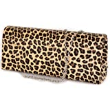 Pochette leopardata elegante cerimonia da donna ragazza signora Borsa a mano piccola Clutch borsetta ecopelle con stampa anim