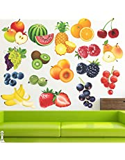 StickMe 'Colourful Furits Baby - Kids - Learning Education Nursery Pre School Kinder Garden Wall Sticker' -SM408 (PVC Vinyl - 100cm X 70 cm)
