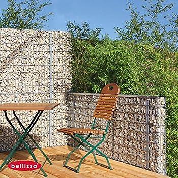steinzaun set als sichtschutz h he 90 cm 98120 garten. Black Bedroom Furniture Sets. Home Design Ideas