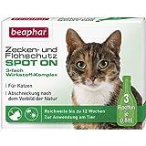 beaphar Teken- en vlooienbescherming Spot On voor katten, teken en vlooienbescherming met Margosa extract, 3 x 0,8 ml
