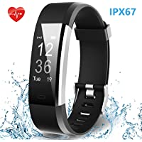 HolyHigh Waterproof Smart Watch Fitness Band with Heart Rate/Sleep Monitor Step/ Calorie Counter Call SMS Notifications Alarm for Men Women Boys Girls