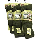 Men's Army Military Patrol Boot Socks Thermal Long Hiking Socks Heat Tog Cushioned Sole Size 6-11