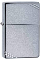 Zippo 267 Classic Street Chrome Lighter with Slashes (Silver)