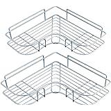YUNKE Shower Organiser, Bathroom Shelves, Shower Caddy Bathroom Storage with Adhesive Sticker for Kitchen & Bathroom Accessor