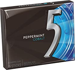 5 Gum Peppermint Cobalt Sugarfree Gum 15piece