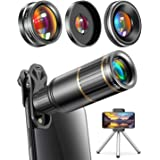 CoPedvic Phone Camera Lens Phone Lens for iPhone Samsung Pixel Android, 22X Telephoto Lens, 4K HD 0.67X Super Wide Angle Lens