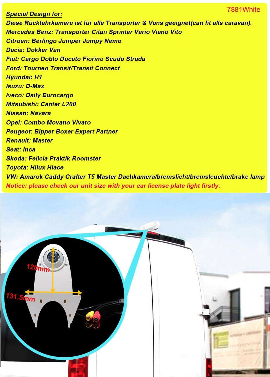 Kalakus-Rckfahrkamera-Universal-Bremslicht-Kamera-integriert-in-3-Bremsleuchte-Rckfahrsystem-fr-Transport-Van-Mercedes-Sprinter-Viano-Vito-Transit-Ducato-VW-Crafter-T5-Renault-Master-Opel-Vivaro