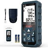 DTAPE afstandsmeter, digitaal afstandsmeter, lasermeetapparaat, afstand met LCD-achtergrondverlichting