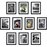 Amazon Brand - Solimo Collage Set of 10 Black Photo Frames ( 8 X 10 Inch - 10 )