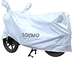 Amazon Brand - Solimo Water Resistant Bike Cover (Silver)