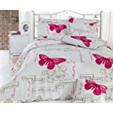 eponj Home Double Quilt Cover Set, White