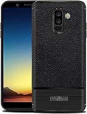 Casefirst ] Case Samsung Galaxy A6 Plus (2018) Ultra Slim Fit Soft Skins Defender Cover Case Case Back Shell Case for Samsung Galaxy A6 Plus (2018) (Black)